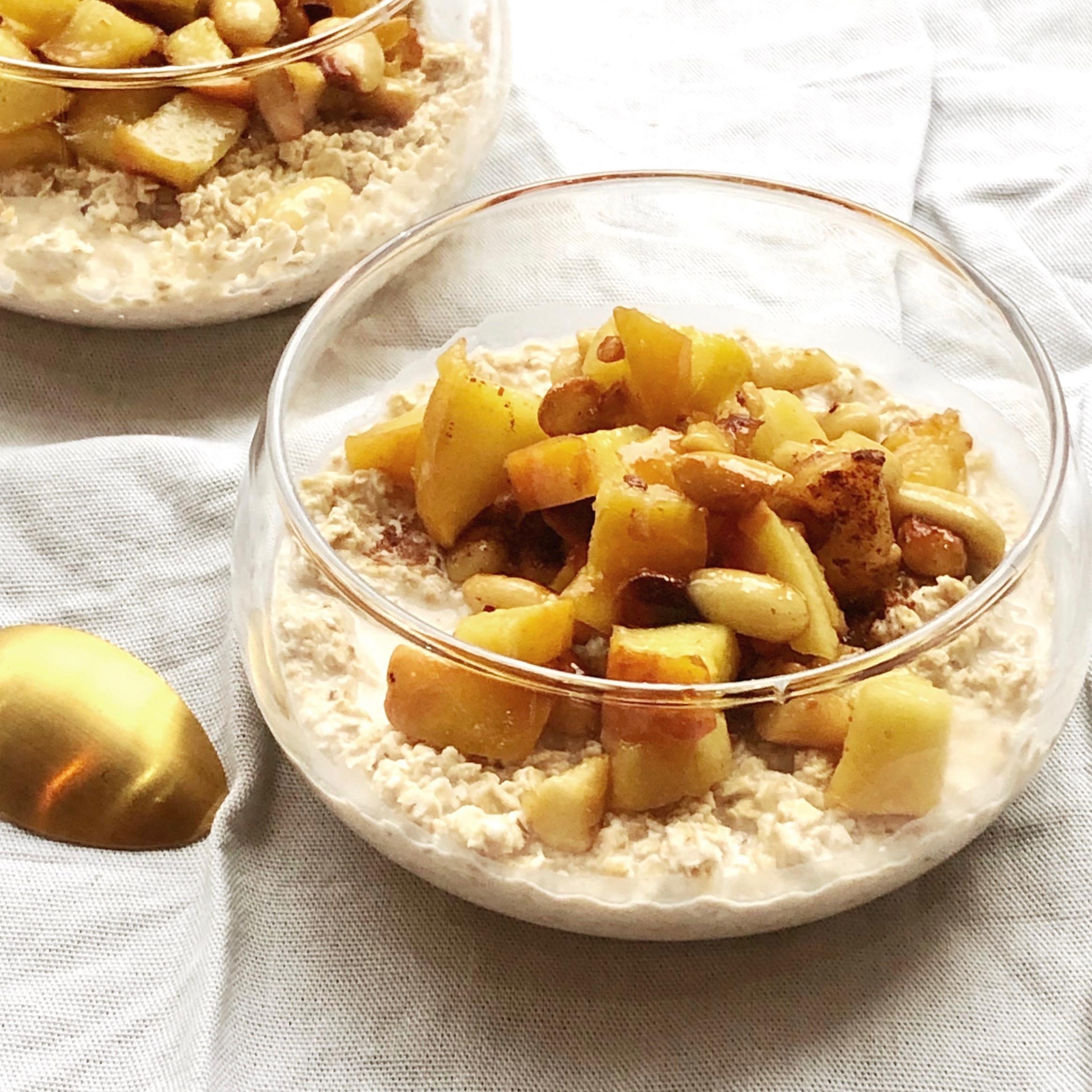 Overnight oats appel – amandel