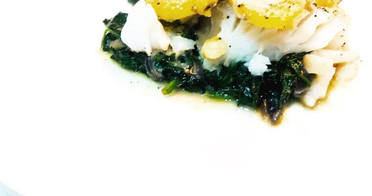 Witte vis met aardappel gratin