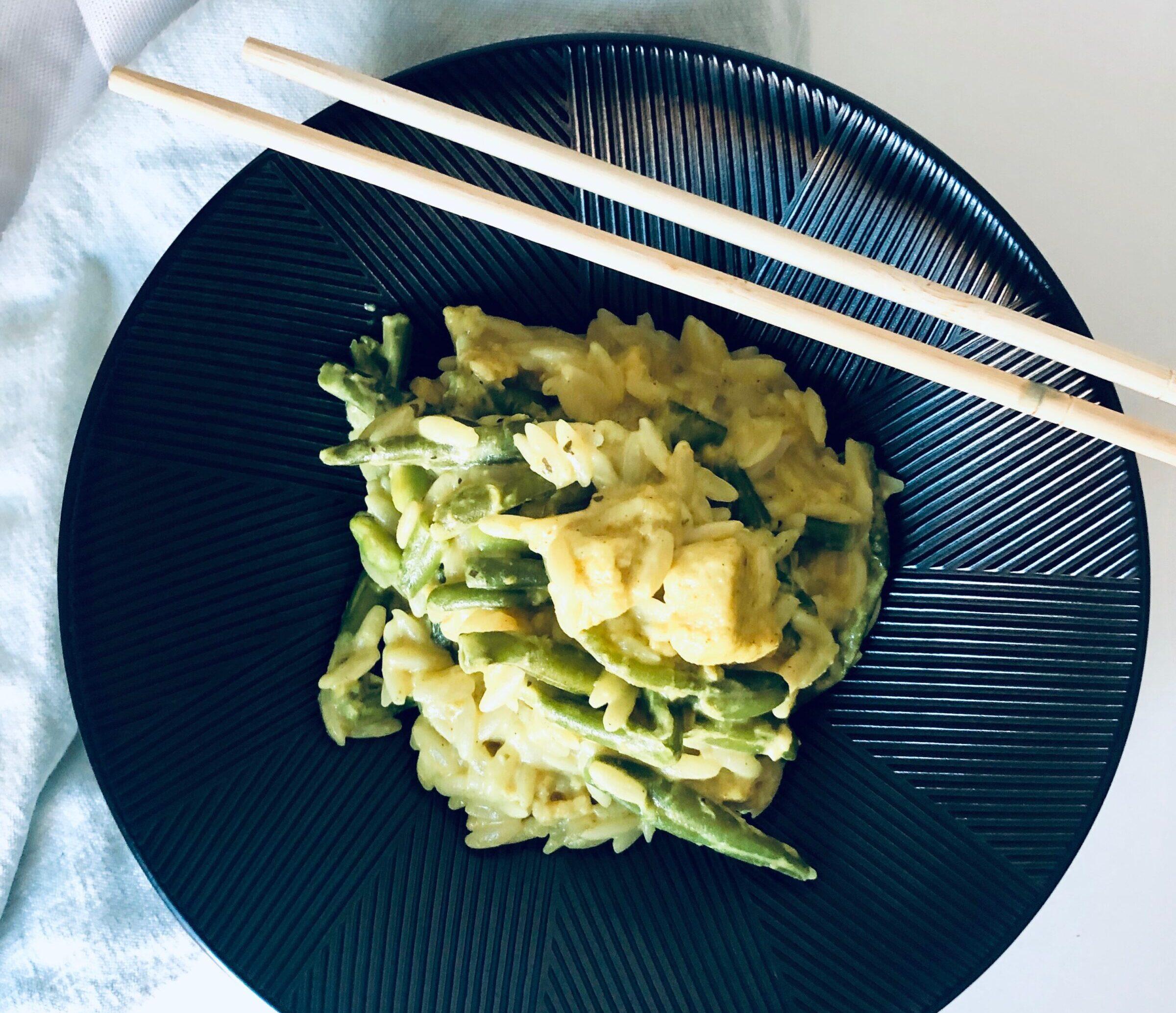 Groene curry met boontjes